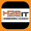 H2B computers, derby logo, print and design