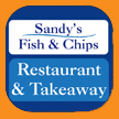 Sandys Fish and Chips, Derby, long eaton, Scotland, print and design